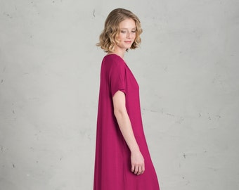 Short Bridesmaid dress - Marie, Blackberry
