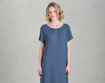 Short Bridesmaid dress - Marie, Ocean Blue