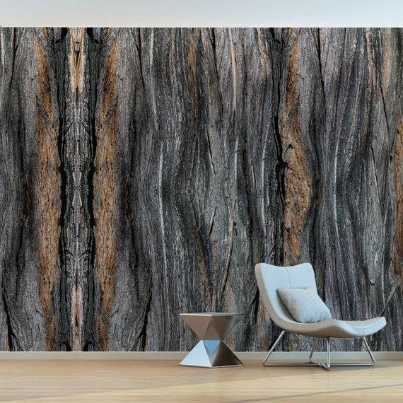 Kunstlerisch Gestaltete Holz Baum Rinde Tapete Kreative Etsy