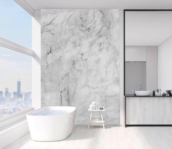 Suppression de papier peint en marbre gris et blanc. Design d ...