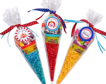 cone candy set of 6 candy favor bag pre filled candy bag etsy