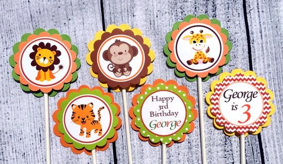 ~ Birthday Party Supplies Decoration THANKSGIVING TURKEY CUPCAKE PICKS 12