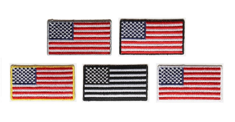 2 X 1 1 Mini American Flag Iron On Patches Choice Of Colors Great For Caps