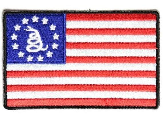"""Flag 3.5/"""" x 2.25/"""" iron on patch 1270 B42 TRY BURNING THIS ONE U.S"""