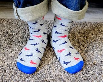 Astronauts swimming and swimming in space Socks Mens Womens Casual Socks Custom Creative Crew Socks