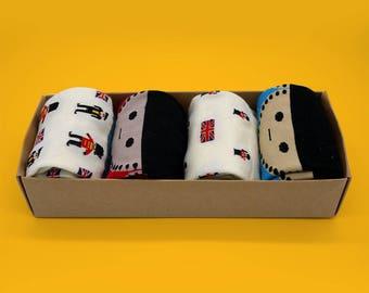 British Royal Soldier women's socks female socks soldier pattern socks crew socks set