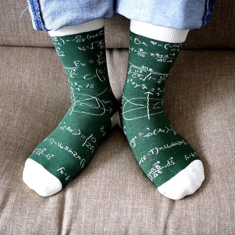 FREE SHIPPING Math equations theme style women's socks image 0