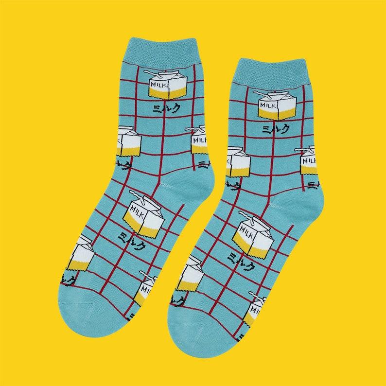 FREE SHIPPING milk carton women/'s socks