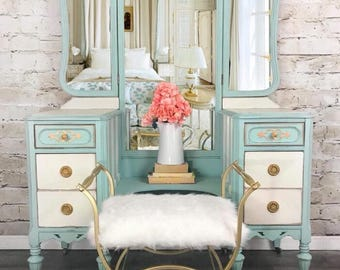 New Inventory Available For Customization!!! Contact Me For Custom Vanity  In Your Color Antique Vanity/Dressing Table