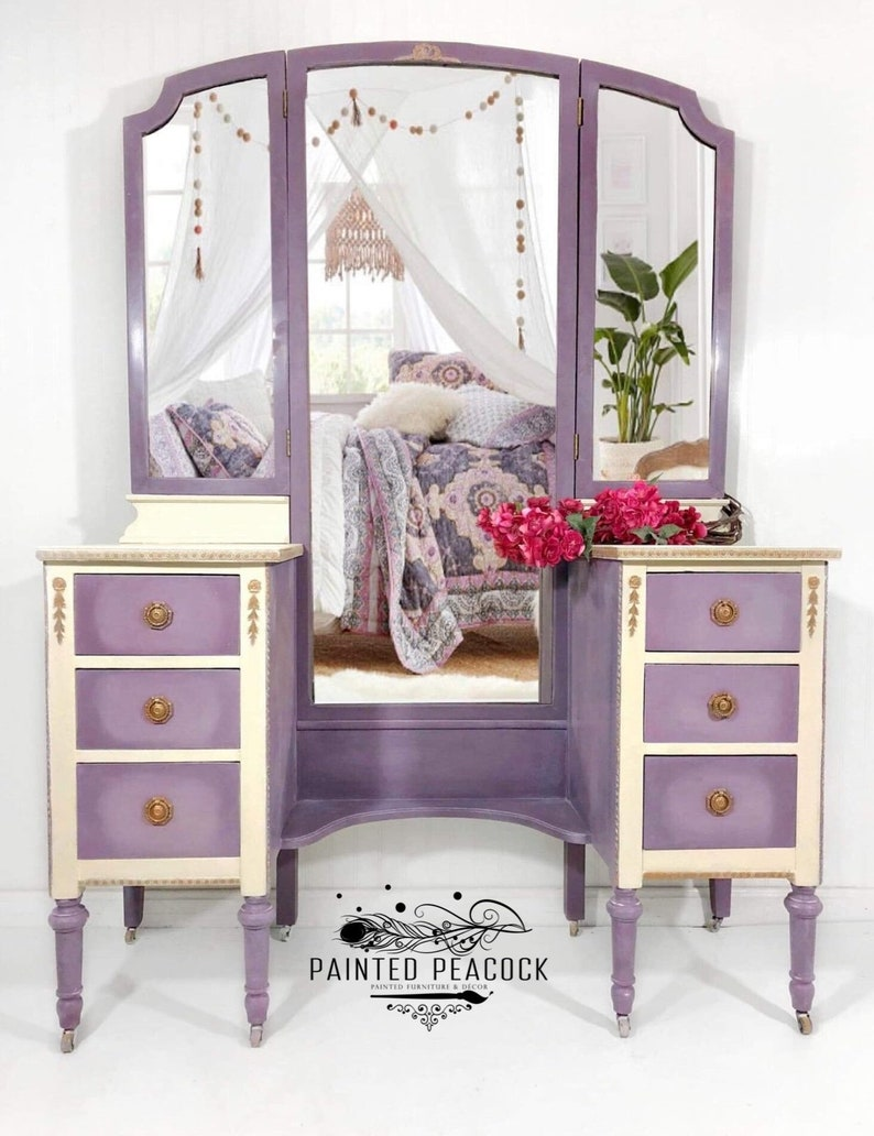best authentic 2c1c5 8a11d SOLD*. Contact me for Custom Vanity in your color-Antique Vanity/Dressing  Table
