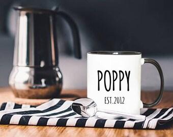 Personalized Mug, Father's Day Gift, Dad Coffee Mug, Poppy Gift, Poppy Birthday, Poppy Mug