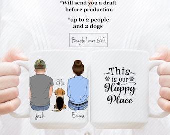 Personalized Beagle Mug, Beagle Lover Mug, Custom Dog Mom,  Dog Lover Gift, Gift For Beagle Mom