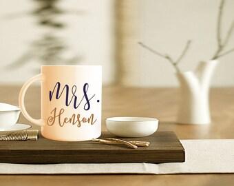 Mrs. Coffee Mug, Mr. Coffee Mug, Engagement Gift, Personalized Mug, Couples Gift, Wedding Present, Bride And Groom, Wedding Shower Gift