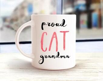 Personalized Mug, Proud Cat Grandma Mug, Cat Grandma Mug, Gift For Cat Mom, Cat Lover Mug, Gift For Cat Grandma, Gift For Grandparent