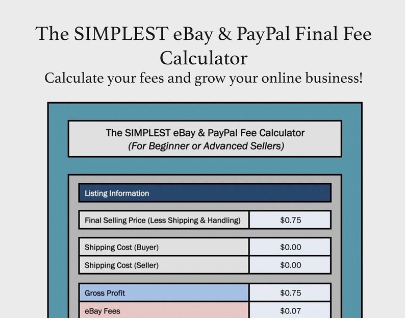 Ebay Paypal Fee Calculator
