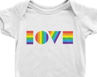 LGBTQ Love Onesie | Pride Onesie | Rainbow Onesie | Gay Baby Onesie | Pride Shirt | Rainbow Baby Clothes | Organic Baby Clothes | LGBT Baby
