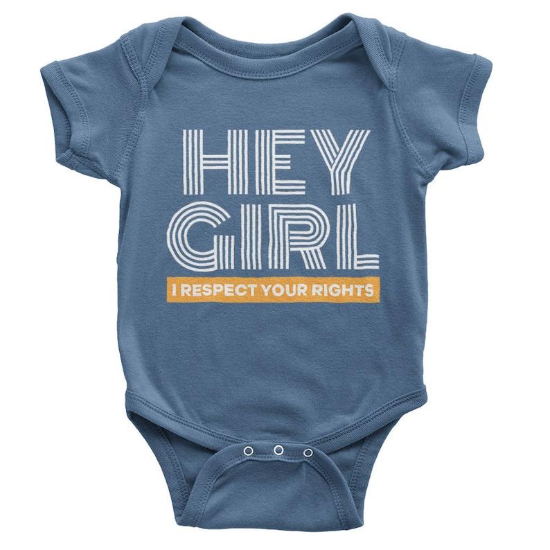 02424267a54a Hey Girl Onesie Boys Feminist Shirt Feminist Boys Kids