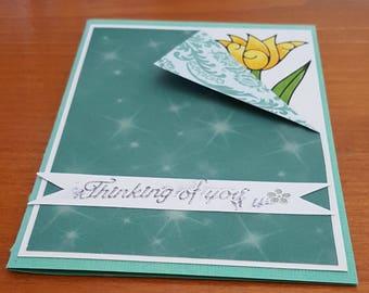 Thinking Of You handmade card, for that special him/her in your life!!
