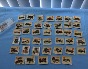 """Vintage Car Transfers, Original,""""Shell"""", Made in New Zealand, 1970's collectables, set of 40 transfers"""