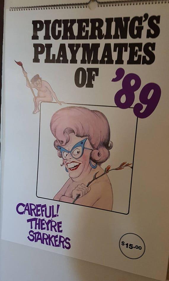 & Rare Dunny Door Hanger Pickerings Playmate Calendar of 1989