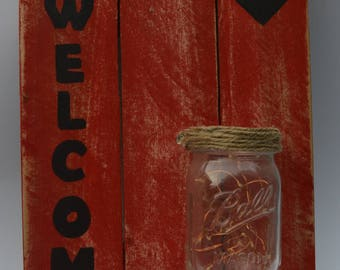 Welcome Sign with Light