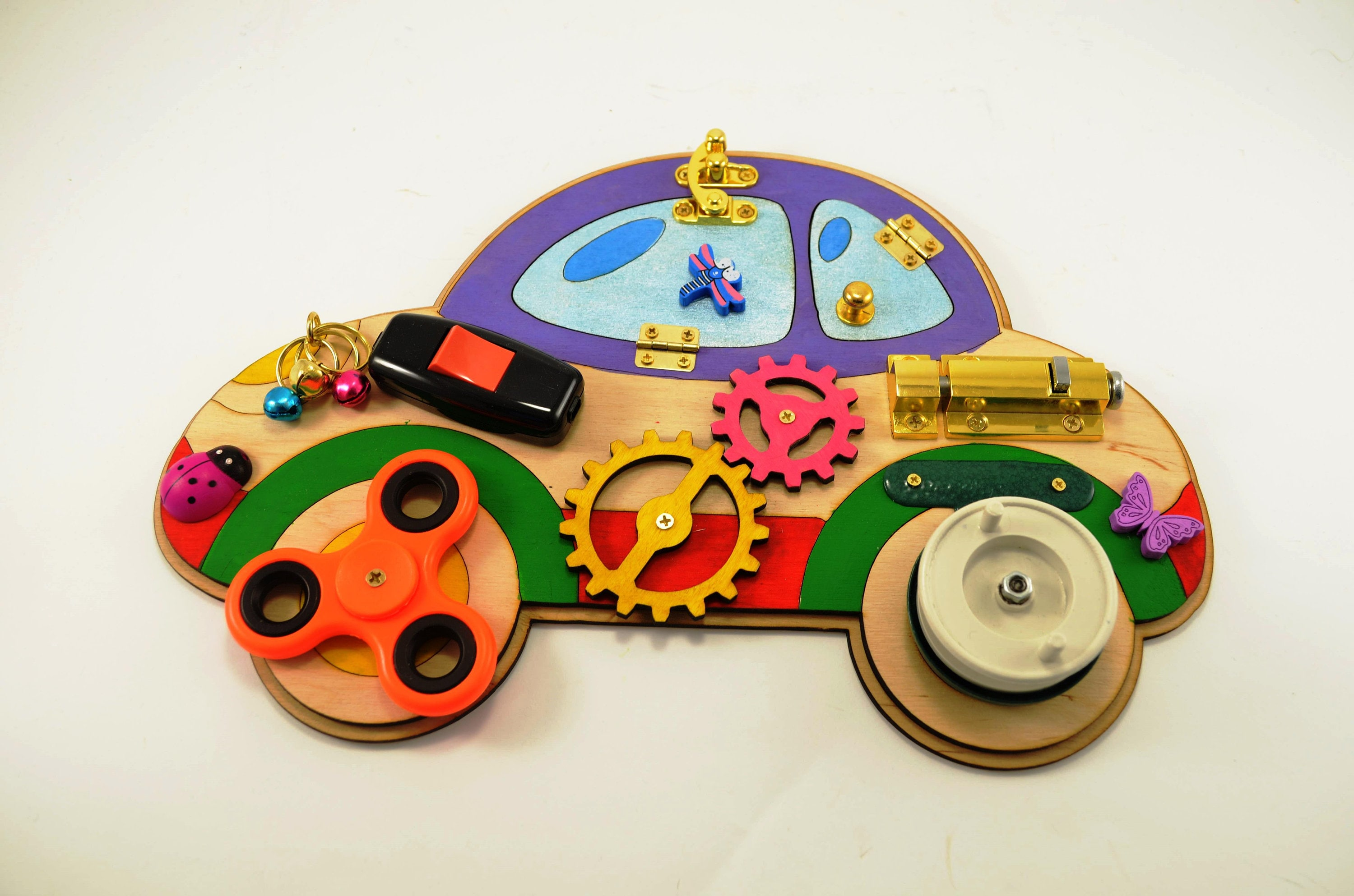Car Busy board Toddler toys Activity board Wooden toys Sensory board Montessori kid toy Learning toy 1 year old Latch board Baby toys Gifrs