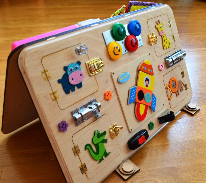 Busy Board Activity Board Montessori Toys Wooden Toys Sensory Etsy