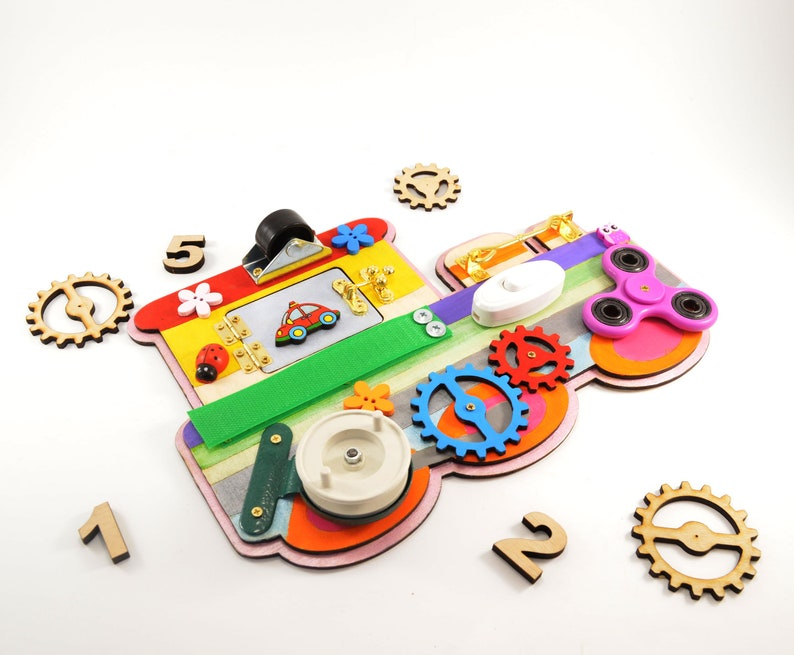 Train busy board Baby learning toy Toddler gifts Travel ...