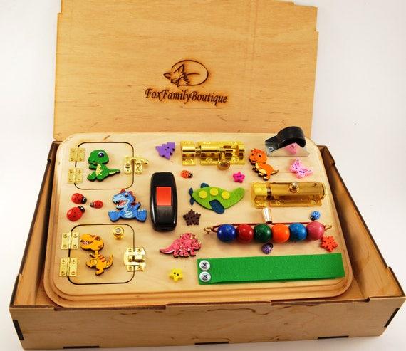 Pasen Baby Cadeau Drukke Bestuur Peuter Speelgoed Houten Speelgoed Speelgoed Voor Reizen Montessori Activiteit Boord Zintuiglijke Toy Baby Cadeau