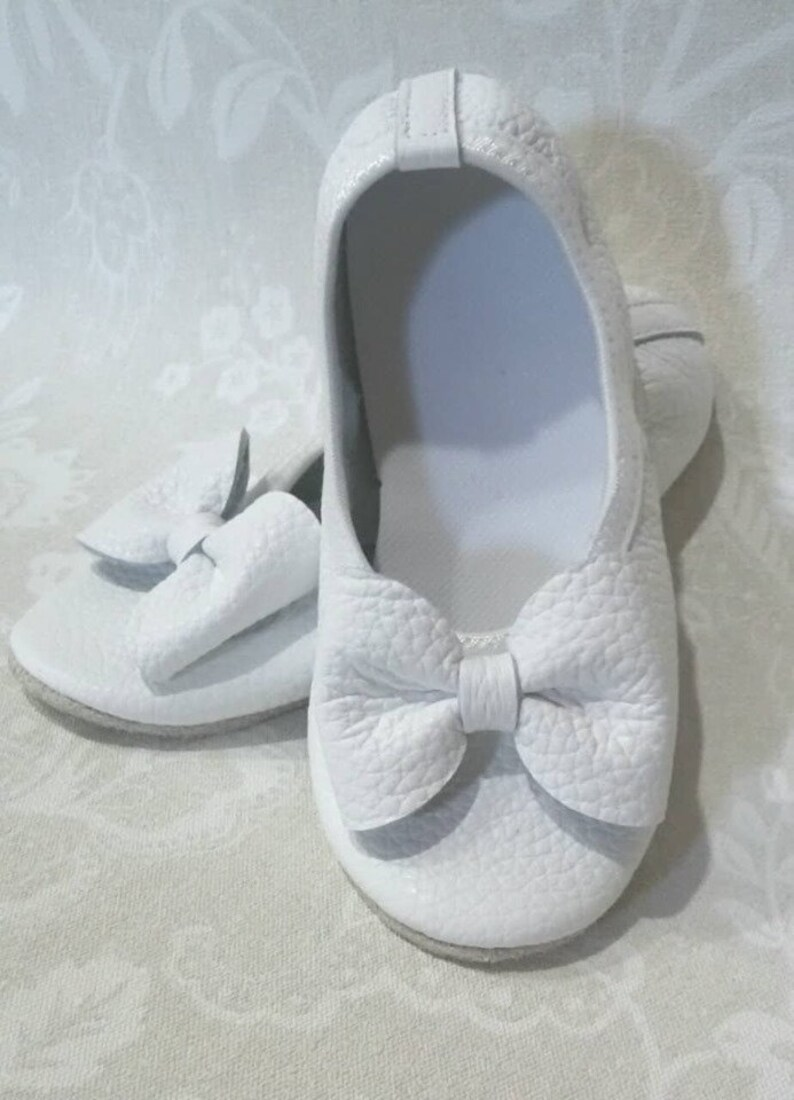 Leather Gymnastic//Training//Dance//Trampoline Shoes White