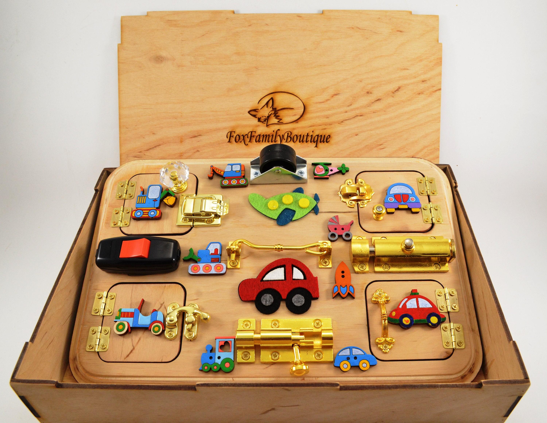 Busy board Travel busy board for boys Latch board Sensory ...