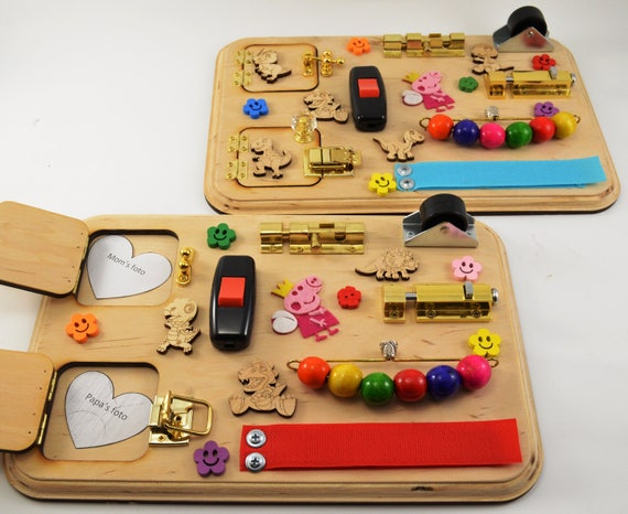 1 piece Toy for travel Sensory board Wooden busy toys Mini   Etsy 29860df103ea