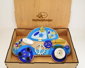 Busy board, Toddler toys, Montessori for baby, toddler busy board,  baby boy toys