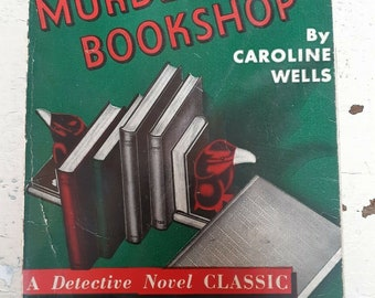 Vintage 1936 Murder In The Bookshop 1930s Fleming Stone Mystery Pulp Paperback