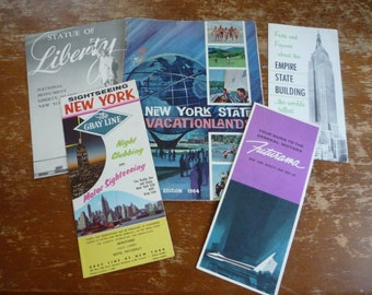 Vintage 1950s 60s New York City World's Fair State Travel Pamphlet Booklet Lot