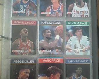 Lot of 52 NBA Hoops Collect Books 1990-91 Jordan, Malone, Rodman, Manning, Magic