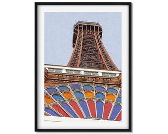 Blackpool Tower, Coaster Beach Art, Blackpool Art