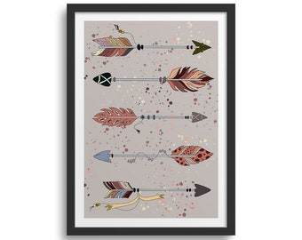 Indian Arrows, Arrow Wall Art, Arrow Print