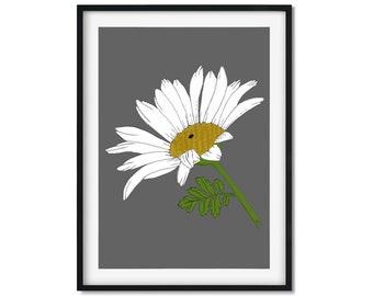 Daisy Flower Art, Daisy Art Print, Daisy Print, Daisy Wall Art