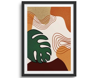 Rust Orange 1 Plant Art Print