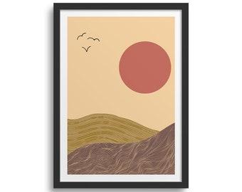 Desert Art Print Desert Print