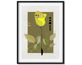 Yellow Rose Art Print, Rose Art, Yellow Rose