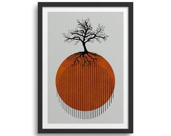 Geometric Tree of Life, Tree Art, Geometric Art