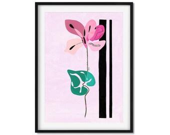 Cyclamen Flower Art Print, Pink Flower Art, Pink Flowers