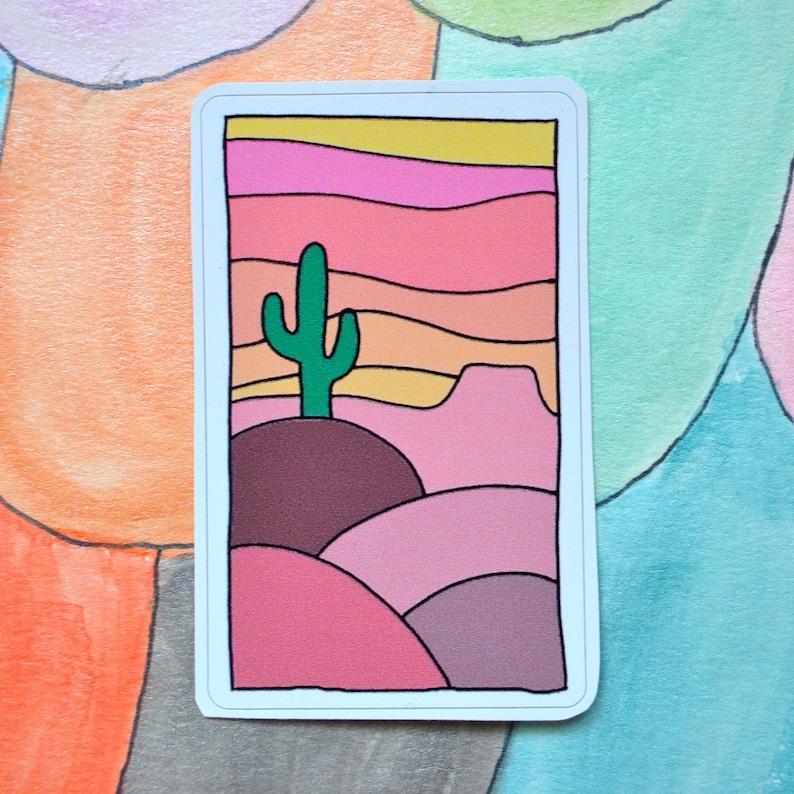 Cactus Desert Landscape Sticker