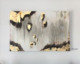 Golden rain, one of a kind, artwork