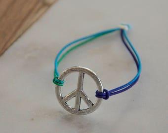 Rubber band, pendant, bracelet, jewelry, jewelry, jewellery, elastic strap, gift, gift, friendship, peace