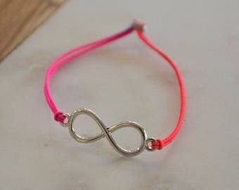 Bracelet, rubberband, pendant, silver, silver, jewellery, jewelry, jewellery, elastic strap, gift, gift, friendship, forever, infinite