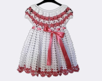 9e4eba991 Christening Knit Dress Baptism Gown Blessing Dress Christening