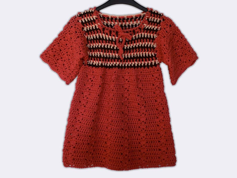 Rode Tuniek Jurk.Rode Tuniek Jurk Hand Gebreide Baby Jurk Katoen Tuniek Dress Etsy